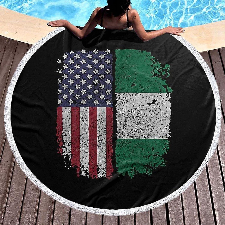 Brand new American Gun Flag Fashion Printing Popular popular Beach Round Large Microfiber