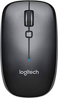 Logitech M557 Bluetooth Mouse for PC, Mac and Windows 8 Tablets, Dark Gray