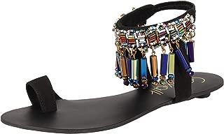 Catwalk Women's Ankle Bracelet Toe Ring Sandals