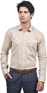 WinSum Wear Cream Cotton Slim Fit Full Sleeve Formal Shirt