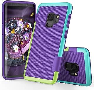 Galaxy S9 Case, S9 Case, TILL(TM) Ultra Slim 3 Color Hybrid Impact Anti-Slip Shockproof Soft TPU Hard PC Bumper Extra Front Raised Lip Case Cover for Samsung Galaxy S9 SM-G960U 5.8 Inch [Purple]