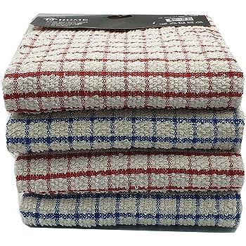 Vision Textiles - Paños de Cocina de Rizo 100% algodón Suave al Tacto con diseño de Cuadros, tamaño 16 x 24 Pulgadas, 100% algodón algodón, Pack of 3 Pcs: Amazon.es: Hogar