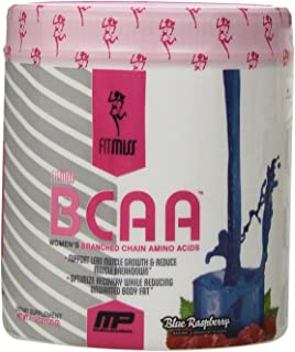 FitMiss Women's BCAA Powder, 6 Grams of BCAA Amino Acids, Post-Workout Recovery Drink for Muscle Recovery and Muscle Toning, Blue Raspberry, No Sugar or Calories, 30 Servings