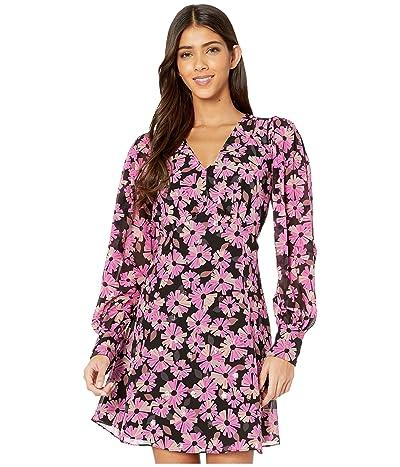 Kate Spade New York Wallflower Chiffon Dress (Black) Women