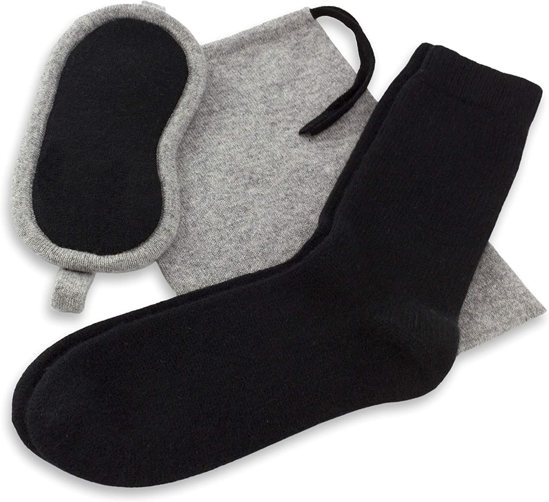 JetBo Women's 100% Pure Cashmere Eye 卸売り Socks Mask Kit: 海外並行輸入正規品 Travel