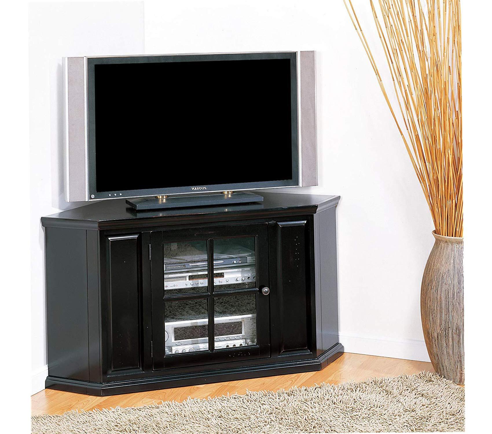 Lеick Furniturе Deluxe Premium Collection Riley - Mueble esquinero para televisor de 46 Pulgadas, Color Negro: Amazon.es: Hogar