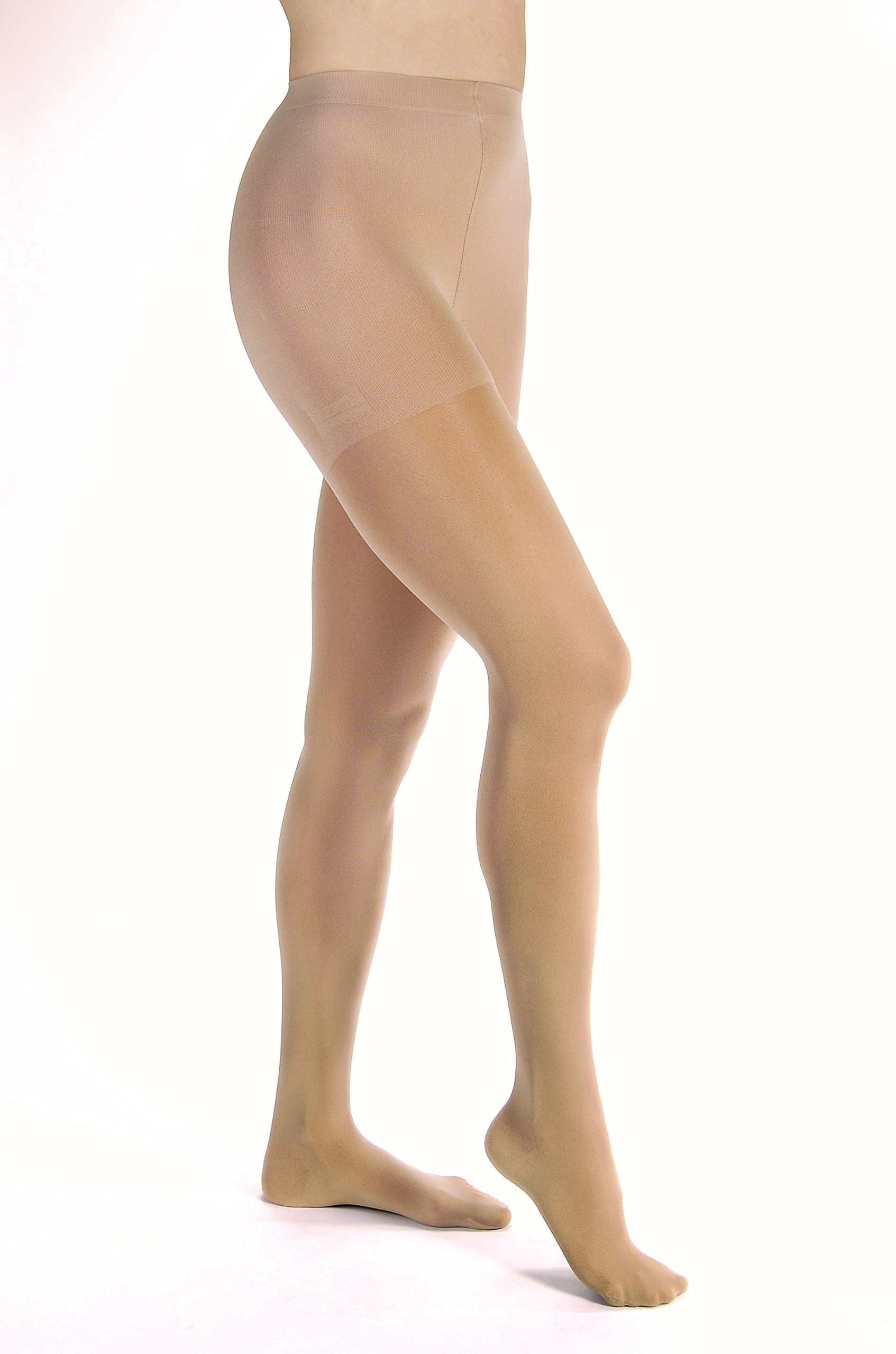 Opaque Compression Stockings Pantyhose Natural