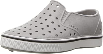 Native Kids Shoes unisex-baby Miles Water Shoe,pigeon grey/shell white,7 Medium US Toddler