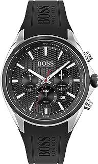 Hugo Boss Men's Analog Quartz Watch with Silicone Strap 1513855
