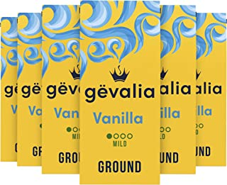 Gevalia Vanilla Flavored Mild Roast Ground Coffee (12 oz Bag, Pack of 6)