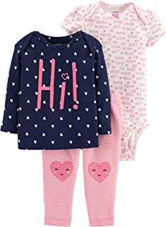 Baby Girls' 3-Piece Little Character Sets