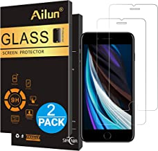 Ailun Screen Protector for Apple iPhone SE 2020 2nd Generation,iPhone 8,7,6s,6, 4.7inch Tempered Glass 0.25MM 2 Pack 2.5D Edge Scratch Proof Case Friendly