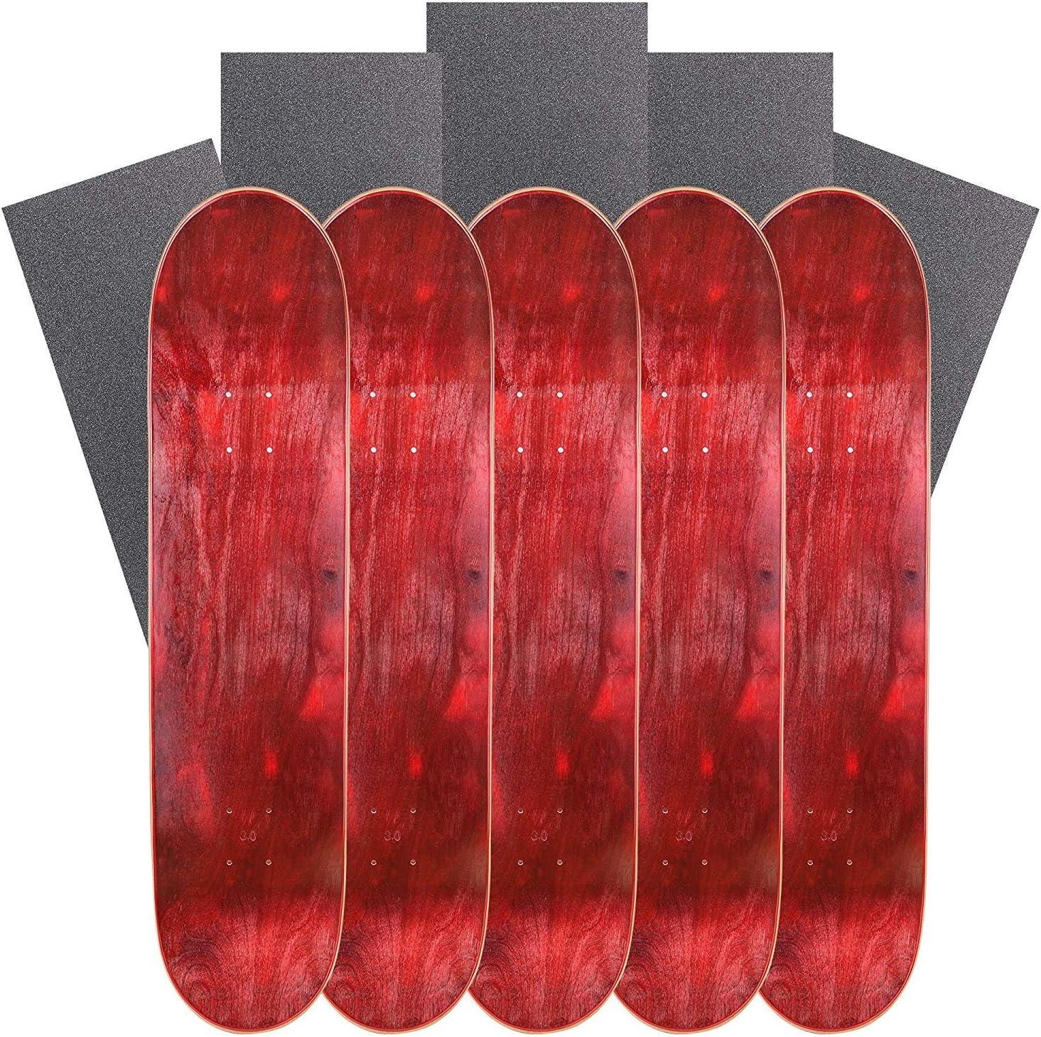 Set of 5 Cal 7 Blank Skateboard Decks with Grip