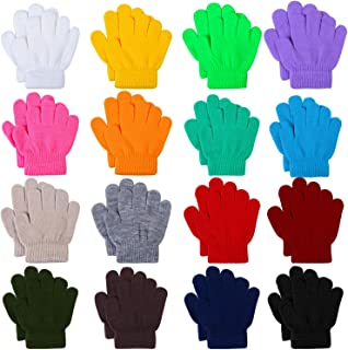 16 Pairs Winter Kids Warm Magic Gloves Full Fingers...