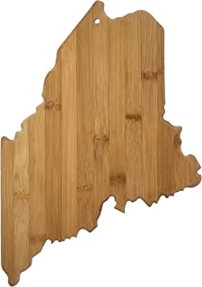 Totally Bamboo 20-7969ME Maine State Shaped Bamboo Serving & Cutting Board,