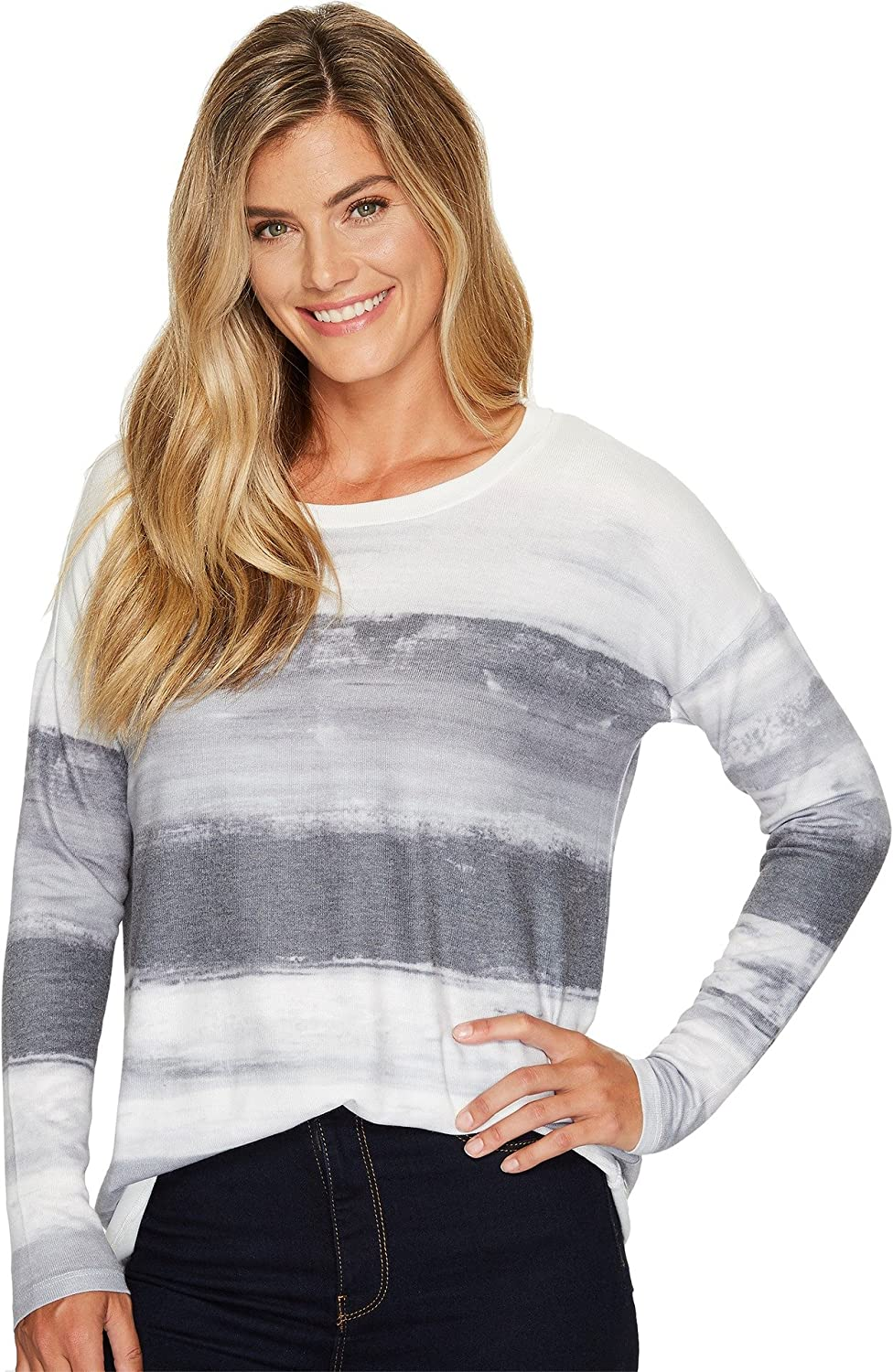 Tribal Womens Long Sleeve Jersey Scoop Neck Top