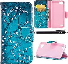 LG Q6 Case, LG Q6 Plus Case, LG G6 Mini Case, iYCK Premium PU Leather Flip Folio Magnetic Closure Protective Shell Wallet Case Cover for LG Q6/Q6 Plus/G6 Mini with Kickstand Stand - Plum Blossom
