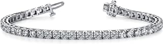 5 Carat Classic Diamond Tennis Bracelet 14K White Gold Ultra Premium Collection (H/I Color SI Quality)