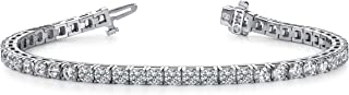 2 Carat Classic Tennis Bracelet 14K White Gold Value Collection