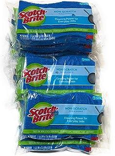 3M Scotch Brite Scrub Sponge Pack (10, Non Scratch)10
