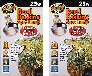 Zoo Med 2 Pack of Repti Basking Spot Lamps, 25 Watt