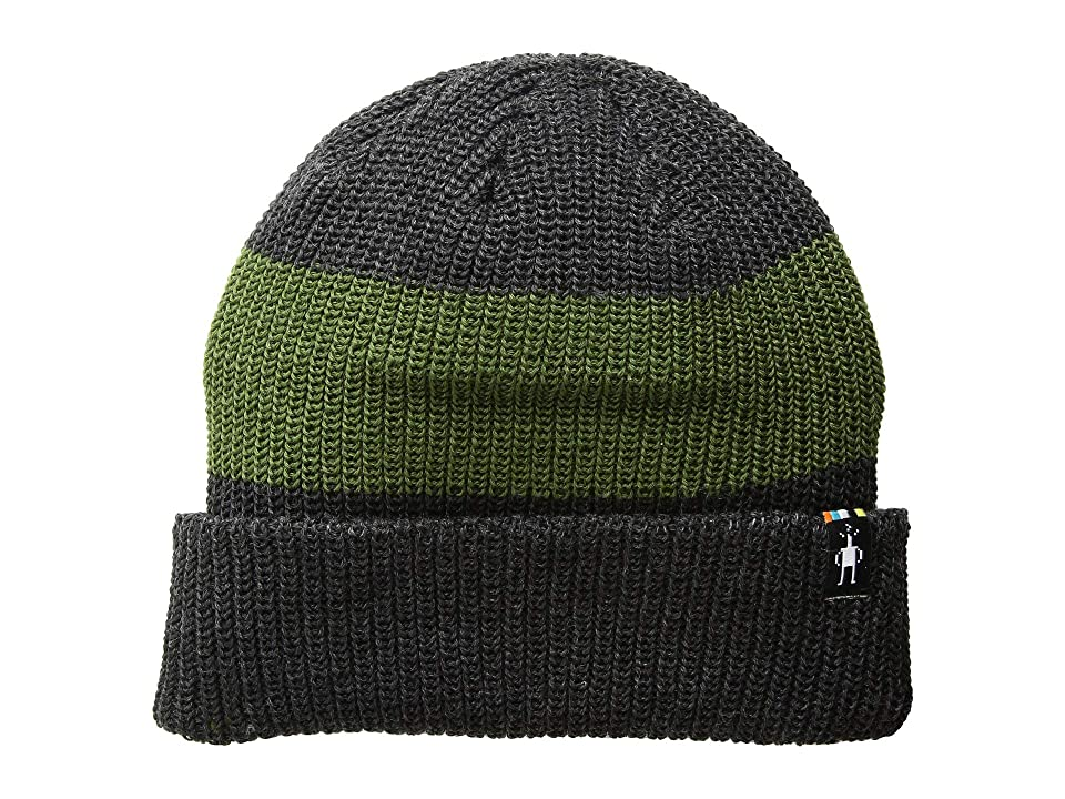 Smartwool Snow Seeker Ribbed Cuff Hat (Charcoal Heather) Beanies
