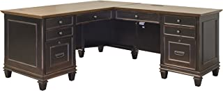 Martin Furniture Hartford L-Shaped Desk, Brown