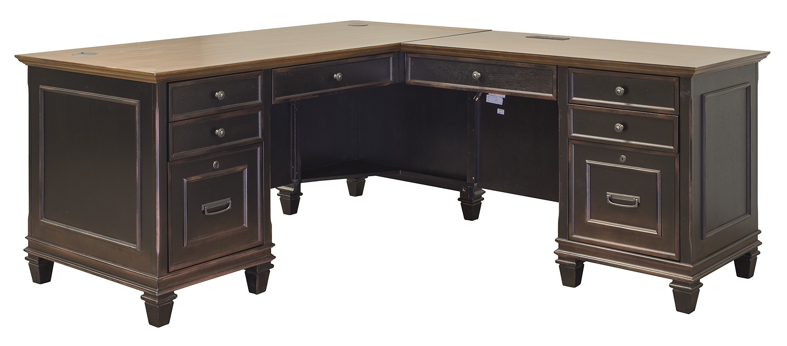 Martin Furniture Hartford L Shaped Brown