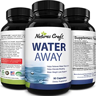 Water Away Supplement for Men and Women Natural Diuretic Pills Relieve Water Retention Fast Reduce Bloating Swelling for W...