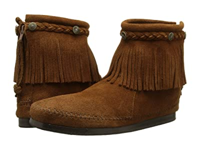 Minnetonka Hi-Top Back Zip Boot (Dusty Brown Suede) Women