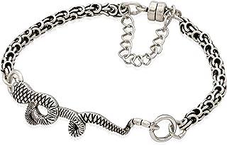 Alex and Ani Women's Snake Magnetic Bracelet, Rafaelian Silver