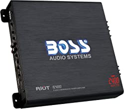 BOSS Audio Systems R2400D - Riot 2400 Watt, 1, 2, 4 Ohm Stable Class D Monoblock Car Amplifier with Remote Subwoofer Control