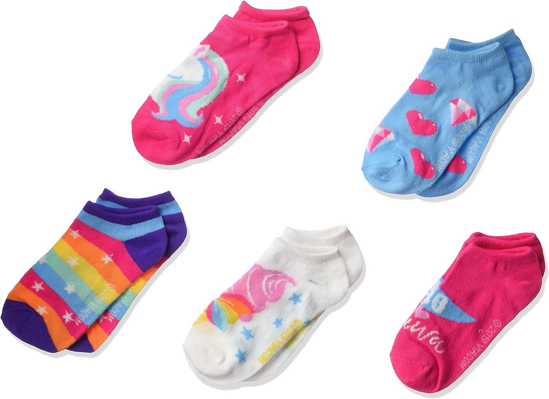 Jojo Siwa Girls 5 Pack No Show Socks