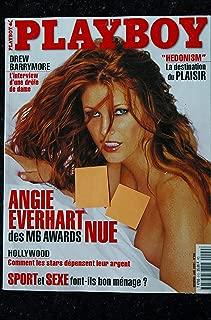 PLAYBOY 009 2001 JANVIER COVER ANGIE EVERHART BILAL DREW BARRYMORE SHARI BELAFONTE CARA MICHELLE NUDE