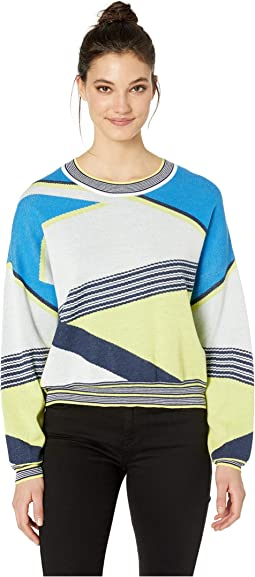 Asymmetric Color Blocked Sweater