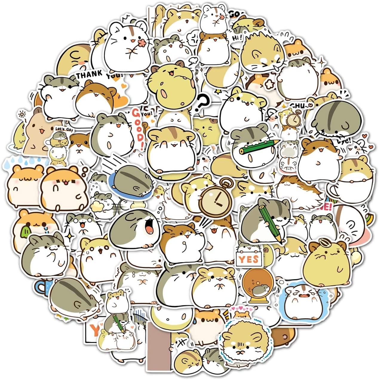 100PCS Hamster store Stickers Japanese Limited price Cute Sti Sanrio Animal