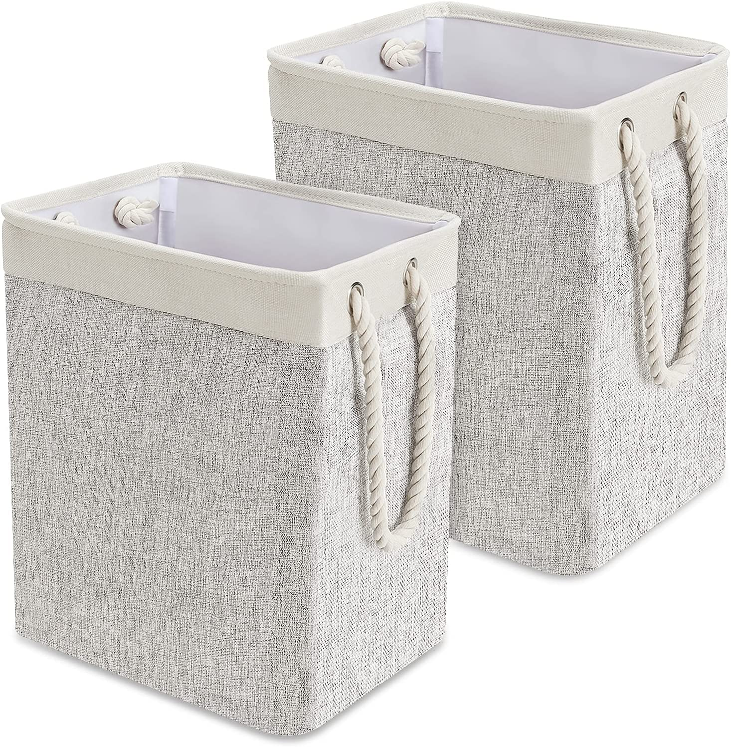 Foldable Laundry Basket with Rope Handles C Pack Cheap sale 2 Financial sales sale Tall QooWare
