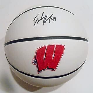 Frank Kaminsky Signed Wisconsin Badgers Logo Basketball w COA SD07629 - JSA Certified - Autographed College Basketballs