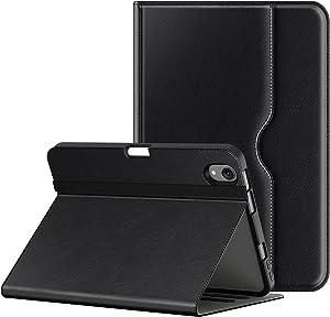 Soke iPad Mini 6 case 2021 6th Generation, Premium PU Leather Folio Stand Case, Multi-Viewing Angles, Shockproof TPU Back Cover with Pocket,Pencil Holder,Auto Sleep/Wake for iPad Mini 8.3 Inch(Black)