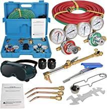 ZENSTYLE Oxygen & Acetylene Gas Cutting Torch and Welding Kit Portable Oxy Brazing..