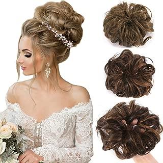 SLLIE Messy Hair Bun Extensions Chignons Hair Hair Scrunchie Scrunchy Updo Hairpiece