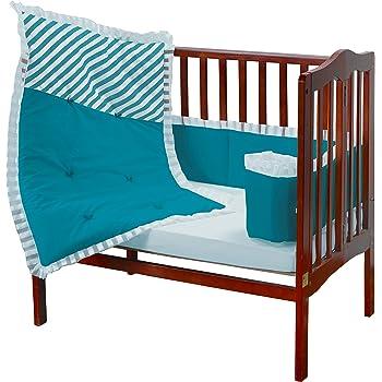 Aqua Baby Doll Candyland Crib Bumper