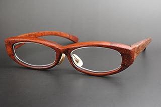 木製めがねフレーム PA-905F(DOKUSOU TIKUHOU)【ルーツ】【鯖江産】【木のめがね】【パドック】【銘木】【ブビンガ】