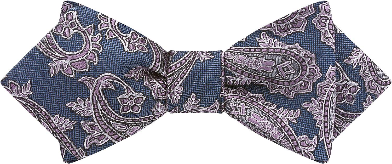Azul Paisley Bow Tie by Masonic Revival (Diamond Self-Tied)