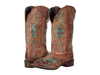 Laredo Aquarius (Tan w/ Inlay) Cowboy Boots