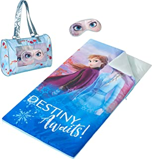 Disney Frozen 2 Sleepover Purse with Sleeping Bag and Bonus Eyemask, Multicolor