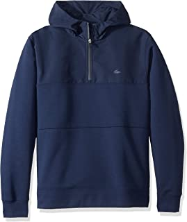 Lacoste Men's Long Sleeve Double Face Colorblock Hooded...
