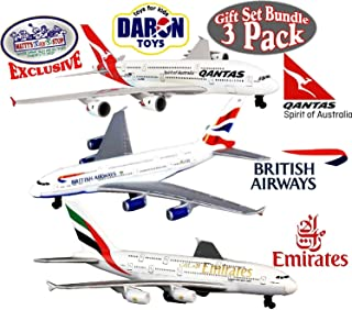 Daron Emirates A380, Qantas A380 & British Airways A380 Die-cast Planes