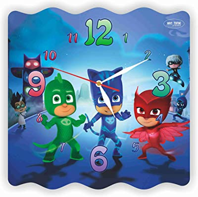 "Exclusive Clock PJ Masks 11""Inches. Plastic – Buy and give Yourself a Fairy"