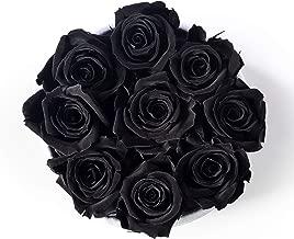 Bellissima Fiore Rosa Negra Preservada | Regalo Original | Cumpleaños, Aniversario, Dia Madres, San valentín, Sant Jordi, Bodas | Rosas Eternas En Caja | Decoración Arreglo Floral